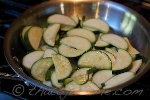 CSA Week 3 sauteed zucchini
