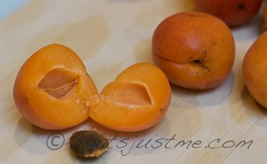 halve then remove the stone from each apricot