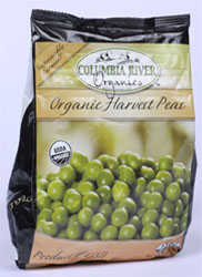 columbia river organic frozen peas with no added salt