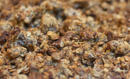 homemade granola-low sugar
