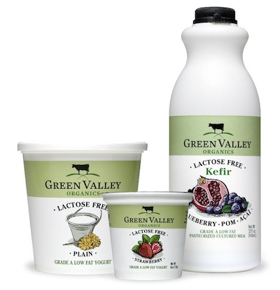 Green Valley Organic bottles and cups