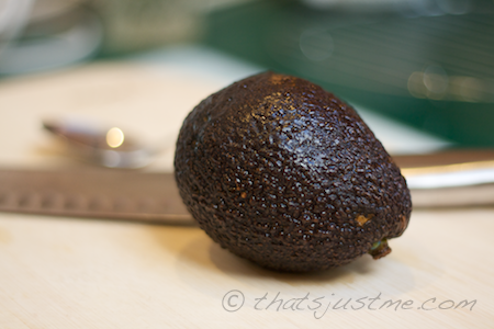 avocado ready to be made into guacamole
