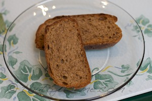 toasted slices of no knead whole wheat bread