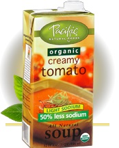 pacific natural foods creamy tomato has lots of added sugar