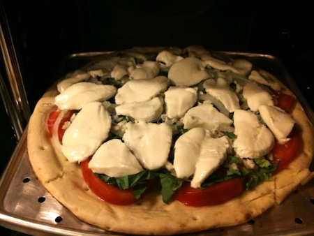 homemade pizza - loads of mozzarella