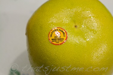 California pummelo fruit label