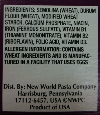 ronzoni smart taste pasta updated ingredients