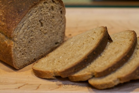 whole grain barley bread after a slow cold fermentation