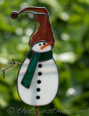 glass snowman ornament