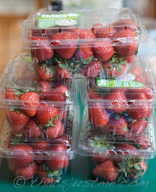 5 boxes of organic california strawberries from whole foods