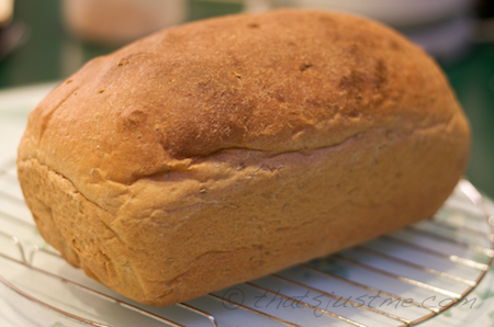 yum, whole wheat rosemary bread looks delicious