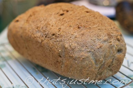 100% Whole Wheat Bread with sunflower seeds and rosemary