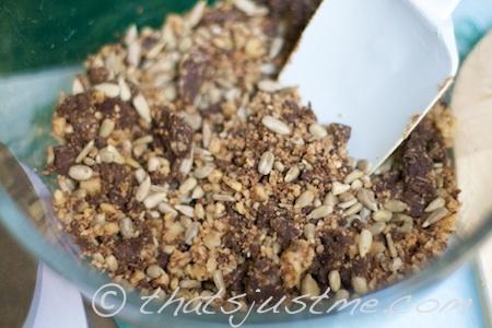 chopped dark chocolate & nuts