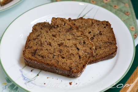 yummy slices of zucchini bread