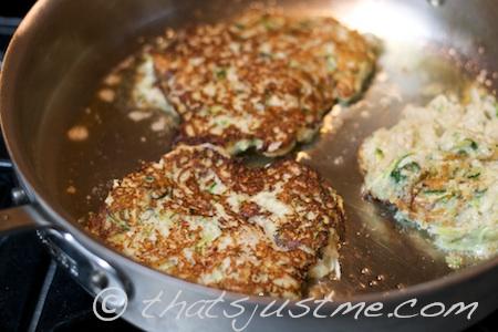 cook zucchini onion pancakes
