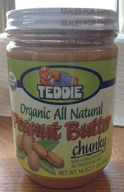 Teddie organic peanut butter front label