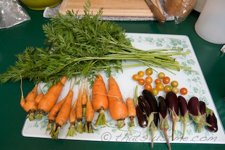 First carrot harvest