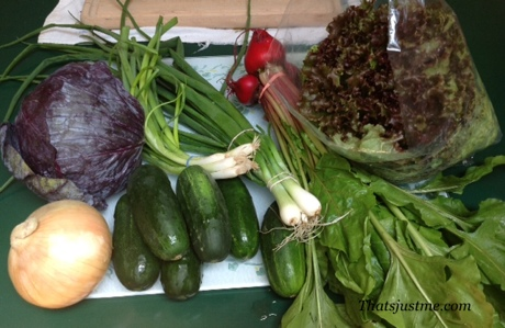veggies I bought from the wilmington farmers market